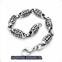 Charming Decorative pattern Bracelet, 2014New Best Price Gift Punk Stainless Steel  Bangle Bracelet Chain,Free Shipping B#64