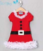 2014 new autumn fashion baby girls Xmas dress pure cotton short sleeve children christmas dresses JL-207