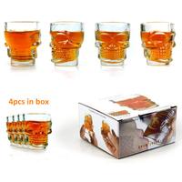 16 Pieces/Lot Crystal Skull Head Vodka Whiskey Shot Glass Mug,Skull Shot Glass Cup,Free Shipping