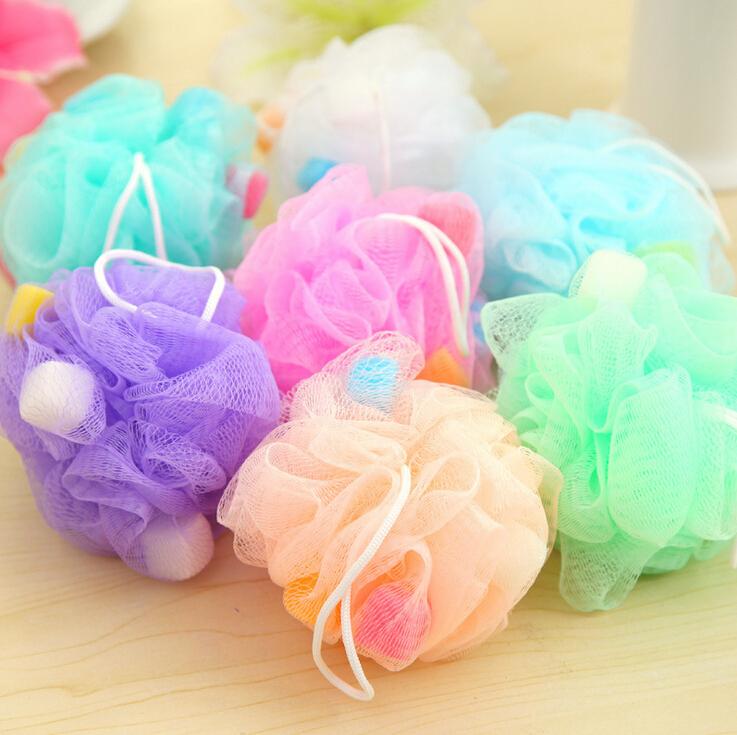 10pcs/lot wholesale bath ball bath companion showers / bath flower / bath sponge mesh sponge randomly color mix(China (Mainland))