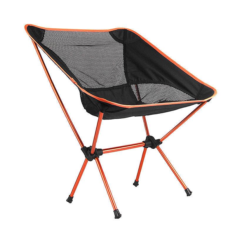 Portable Assembled Chair Folding Ultralight Durable Aluminium Seat Stool Fishing Camping Hiking Gardening Beach Outdoor Orange(China (Mainland))