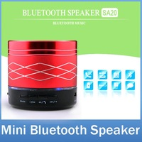 Cool LED Light Mini Metal Steel Wireless Bluetooth Speaker Music Amplifier with FM Radio MP3 U disk Support SD Card SA20