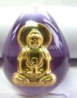 Charm 999 24K Yellow Gold Pendant/ Fine Crystal Bless Kwan-yin Pendant- Free shipping