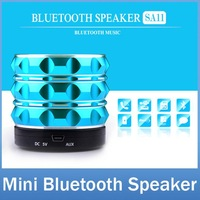 SA11 Portable Mini Metal Steel Wireless Bluetooth subwoofer Speaker Music Amplifier with MP3 Player Support SD TF Card
