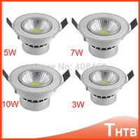 5 pcs/lot high quality 7W 10W cob led downlight down light LED Spot light led ceiling lamp home decoration