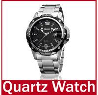 2014 New High Quality  Men Dress Quartz Watch Fashion Brand SKONE Analog Date Work Full Steel Watch Casual Wristwatch Waterproof