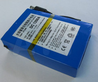 Free  Lithium-ion Battery Pack DC 12V 129800mAh for CCTV Cam DC-1298A 4sets/pack