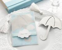 2014 best  new baby shower favor umbrella bookmark wedding favor bookmark gifts bridal shower favor guest keepsakes 100pcs