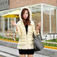 2014 Hot Sale Winter Women/Students Brand Casual Gift Parka Short Down Coat New Students dress  L XL XXL YY0619