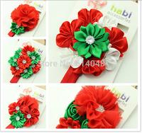 5pcs Christmas Headbands  Girl's Head Accessories hairband Baby Headband flower princess headband elastic flower hairbands