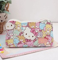 Free Shipping Korean Version Of The New Hello Kitty Lovely Bear Increase Long Ladies Purse 7009