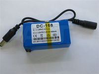 Free shipping New Super DC 12V 1800mAh Rechargeable Lithium-ion Battery Pack For CCTV Camera DC-168 10sets/pack