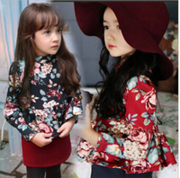 Free Shipping High Quality 1PC/lot  Fashion Baby Girls Kids Autumn Winter Dress Princess Dresses Nice Soft Cotton  Birthday Gift