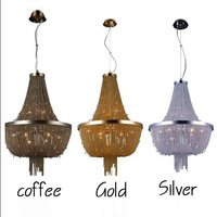 Dia.550MM*H750 MMResolved tassel aluminum copper chain pendant light lamps with free shipping