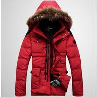 2014 Men'S Down Coat Outerwear Male Design Thickening   Down Jacket Men Winter Duck Parka Jackets Men'S Winter Overcoat Outwear