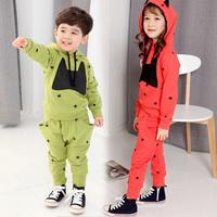 Free Shipping Autumn Kids Sets Boys Girls sets Children's batman long Hoodie + Pants suits 2pcs/set Boy Girl casual set