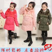 2014 winter coat thicker girls hooded jackets Kids