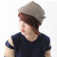 2014 New Fashion 100% Acrylic Women Aviator Knitting Hats Skullies & Beanies Casual Cap HTZZM-411