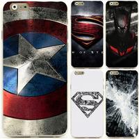"Hot Sale Captain America Superman Super Man Logo mobile cell phone case for apple iphone 6 4.7"" 5.5"" plus"
