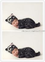 Crochet Handmade Animal Hats Caps Beanis Costume Baby Boy Girl Sets Newborn Photography Props