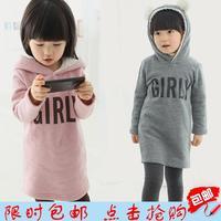 2014 winter Kids for girls plus velvet super thick   Hoodies Sweatshirts