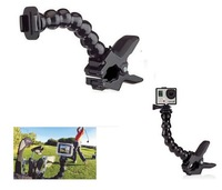 Free shipping Jaws Flex Clamp Clip Mount + Adjustable Neck for Gopro Hero3+ 3 2 Accessories and SJ4000 Suptig Camera