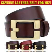 Men's Belts Copper Needle Buckle Guaranteed 100% Genuine leather Belt Fashion belt for men