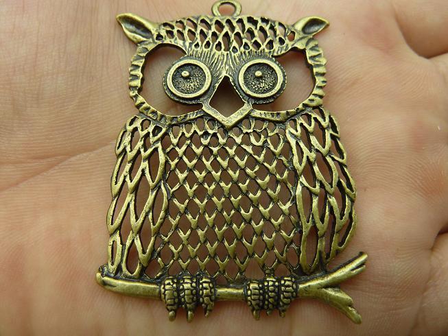 5 шт. античная бронзовая совы DIY изготовление ювелирных изделий