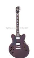 Burgundy Jazz  left-handed backhandcustom electric guitar