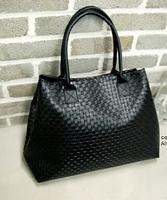 2014 Hot Selling Women PU Leather Handbag Tote Shoulder Bags Large Capacity PU Weave Messenger Bags Fashion Design Free Shipping