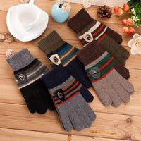 New Knitted Gloves Fashion Men Gloves Warm Winter gloves Full Finger Gloves