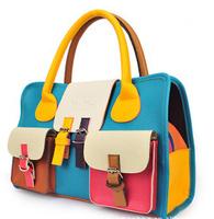 2014 Fashion Colorful Brand Women Cute Leather Handbag Vintage Purse Ladies Travel Messenger Bags New Recreation Shoulder Bag