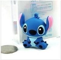 wholesales! Genuine new fashion 4gb/8gb/16gb/32gb cartoon blue stitch model usb 2.0 memory pen disk thumb/stick/gift