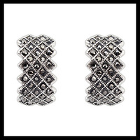 New 2014 Vintage Fashion Geometric Gothic Silver Punk Stud Earrings For Women #110064