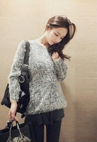 2014 Spring Autumn&Winter han edition round collar loose mohair sweater coat fashion knitwear