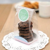 E1 KOREA clear thicken design stand up food mooncake cookie packing organza bags, candy pouch  food packaging