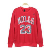 VS 2014 Harajuku College Wind BULLS Bulls 23 GD  men and women couple models sweater back jordan 23 printed long sleeve sweater