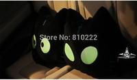 Cute Cat Car Pillow  Car Cushion Waist Pillow  for Car -Cat with noctilucent geen light eye-mix order