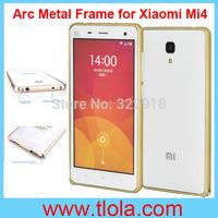 100pcs/Lot Free Shipping: Luxury Circular Arc Edge Aluminum Metal Alloy Bumper Frame Case for Xiaomi (Swiss Post)