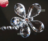 Hanging Decorative Crystal Flower Pendant for Crystal Garland, 6pcs/lot, Christmas Decor, Chandelier Part, free shipping