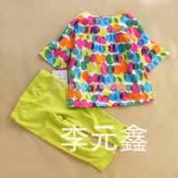 children't clothing set girl's fashion design big folwer kid's garment 2pcs 1 set,Freeshipping
