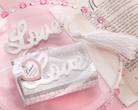 Romantic wedding gift Stainless steel bookmark for Book Page Holder Novelty book marker stationary office material