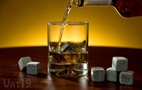 Cool gift 100sets*9pcs/sets=900pcs Whiskey ice stones beer stone with velvet bag & color box