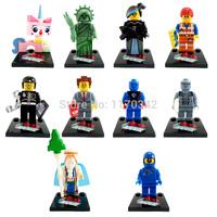 2014 The Movie Minifigures 10pcs/lot Emmet Vitruvius Wyldstyle Building Blocks Sets Model Figures Toys Bricks