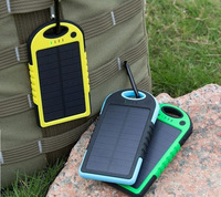 Traveling Universal Portable 5000mAh Solar Panel Battery Charger Solar Power Bank External Battery Pack For iphone 6  Sam