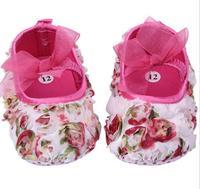2014 Fall New baby toddler shoes explosion models rose babyshoes 0-1 years old calcados de bebe flower tenis feminino feminino