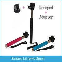 Gopro Tripod Accessories Aluminium Handheld Monopod Tripods Mount Adapter For SJ4000 Gopro Hero Camera HD 1 2 3 3+ 3 Colors