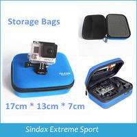 TELESIN Digital Go Pro Hero 3 Accessories EVA Shockproof Portable Small Camera Ride Storage Bag Gopro Case for Gopro hero2 3+ 3