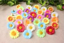 100pcs/lot Artificial Flowers small Daisy head flowers simulation flower supplies wholesale For DIY WEDDING FAVOR BOX Decor(China (Mainland))