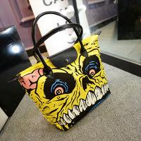 2014 Japan and South Korea trend of fashion handbags casual shoulder bag lady cartoon canvas beach tote bag dumplings
